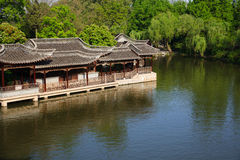 Chinese old style elegant buildings Stock Photo