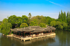 Chinese old style elegant buildings Royalty Free Stock Photos