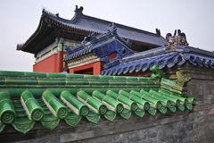 Chinese old style rooftop Royalty Free Stock Photos