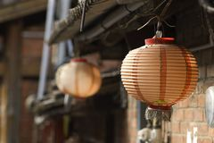 Chinese old sytle red lantern. For background Stock Image