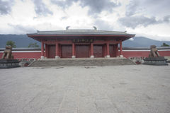 Chinese old temple building Royalty Free Stock Photography