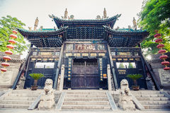 Chinese old temple with colorful roof Royalty Free Stock Photography