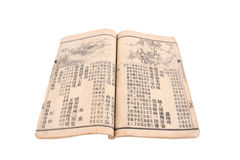 Chinese old texts Royalty Free Stock Photography