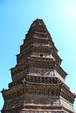 Chinese old tower. The ancient tower in China Royalty Free Stock Photos