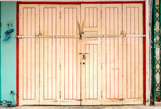 Chinese old wooden door Royalty Free Stock Images