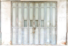 Chinese old wooden door Stock Photo