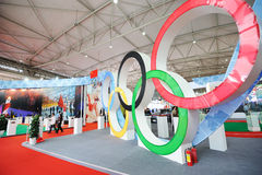 Chinese olympic committee stand. The 28th China International Sporting Goods Show 2011,Chengdu Stock Images