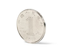 A chinese one yuan coin Royalty Free Stock Images