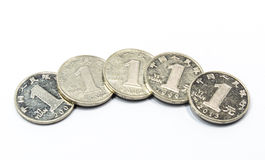 Chinese one yuan coins Royalty Free Stock Photos