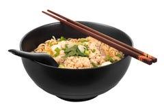 Chinese onmiddellijke noedel met fijngehakt varkensvlees Royalty-vrije Stock Afbeeldingen