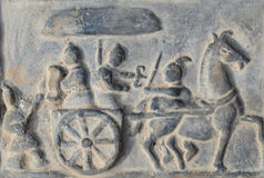 Chinese ontgraven baksteenbakstenen Royalty-vrije Stock Foto's
