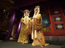 Chinese opera. Models of Chinese opera performers in Hong Kong Heritage Museum royalty free stock photo
