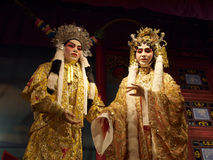 Chinese opera. Models of Chinese opera performers in Hong Kong Heritage Museum royalty free stock photography