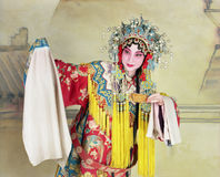 Chinese opera. Traditional Beijing opera actress acting  'Drunkened Concubine Stock Photo