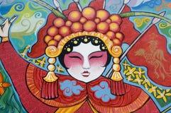 Chinese Opera. A graffiti of a chinese opera performer Stock Photo