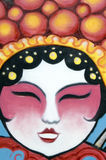 Chinese Opera. A graffiti of the face of a chinese opera performer Stock Photography