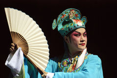 Chinese opera actor. Perform on stage Royalty Free Stock Photo