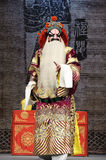 Chinese opera actor. Chinese opera performer make a show on stage Stock Photos