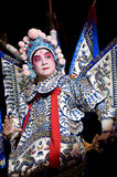 Chinese opera actor performs on stage Stock Photography