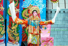Chinese Opera actress performs on stage Royalty Free Stock Images