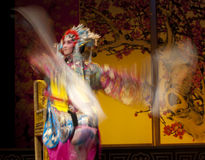 Chinese opera actress Waving sleeves Royalty Free Stock Images