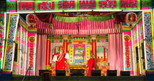 Chinese opera in annual festival at  Thailand-shrine Royalty Free Stock Images
