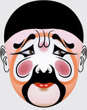 Chinese opera face Stock Image