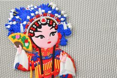 Chinese Opera Fridge Magnet of Consort Yang Gui Fei royalty free stock image