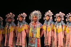 Chinese opera, groep actoren stock afbeelding