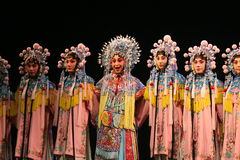 Chinese opera, group of actors. Actors performing Chinese opera in Beijing Stock Image