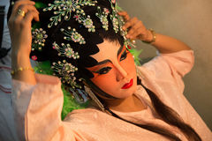 Chinese Opera Makeup Royalty Free Stock Photo