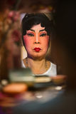 Chinese Opera member prepares at backstage Stock Photography