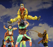 Chinese opera : Monkey King : Flaming Mountain Stock Images