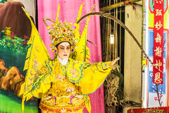 Chinese opera. Is a popular form of drama and musical theatre in China . Location Sombun God Shrine  chinese Shrine at  Donmuang near Donmuang Airport Stock Photography