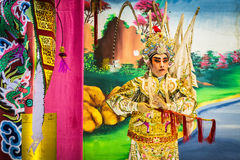 Chinese opera. Is a popular form of drama and musical theatre in China . Location Sombun God Shrine chinese Shrine at Donmuang near Donmuang Airport Newyear royalty free stock images
