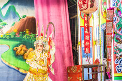 Chinese opera. Is a popular form of drama and musical theatre in China . Location Sombun God Shrine  chinese Shrine at  Donmuang near Donmuang Airport Royalty Free Stock Images