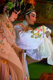 Chinese Opera team acting at The Chinesse Temple Stock Image