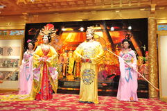 Chinese opera,waxwork. Chinese traditional opera performance of waxwork Royalty Free Stock Images