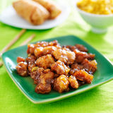 Chinese orange chicken in sauce Royalty Free Stock Photos