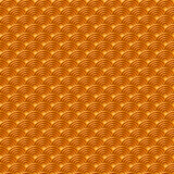 Chinese orange yellow gold seamless pattern dragon fish scales simple seamless pattern Nature background with japanese wave circle Stock Photos