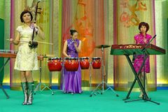 Chinese orchestra. From China, guangzhou city song and dance theatre, Chinese orchestra Royalty Free Stock Images
