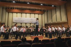 Chinese Orchestra in Concert at SCO Concert Hall Royalty Free Stock Image