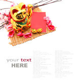 Chinese oriental lucky cat figure Stock Photography