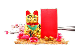 Chinese oriental lucky cat figure Stock Images