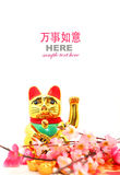 Chinese oriental lucky cat figure Royalty Free Stock Photos