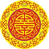 Chinese ornament 007. Asia ornament, print for t-shirts,  to cut Stock Photos