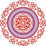 Chinese ornament 006. Chinese ornament print for t-shirts,  to cut Stock Photography