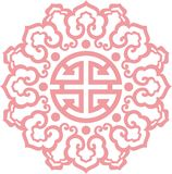 Chinese ornament 002. Chinese ornament, print for t-shirts, to cut royalty free illustration