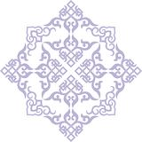 Chinese ornament 003. Chinese ornament, print for t-shirts,  to cut Stock Photography