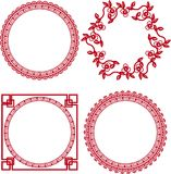 Chinese ornamental frames. Beautiful design Stock Photos